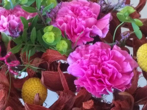 bordeaux bloemstuk detail