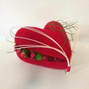 Bloemstuk Valentijn hart
